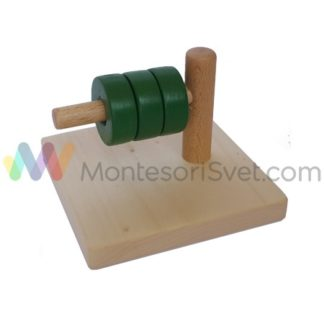 zeleni-diskovi-na-horizontalnom-stapu