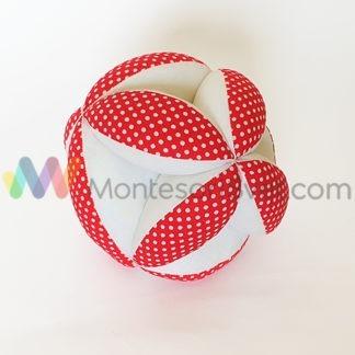 crveno-bela-montesori-lopta-sa-tufnama