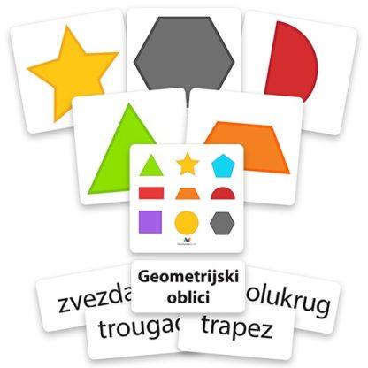 geometrijski oblici edukativne kartice