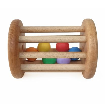 montessori wooden rattle toy